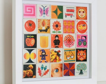Vintage 70s memory card collage