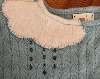 Rainy Day Cloud Cashmere Sweater - 3-4 y/o