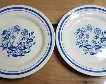 Oxford Blue Onion, Set of 2 Bread and Butter Plates