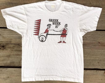 Athens Marathon Shirt XXL, Greek Shirt, Vintage Marathon Shirt, Greece Shirt