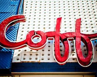 Johnie's Coffee Shop Neon Sign Print | Los Angeles Wall Art | Retro Kitchen Decor | Neon Sign Art | Retro Wall Art | Coffee Sign | LA Art