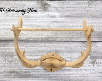 ANY COLOR: Iron Deer Antler Toilet Paper Holder / Western Bathroom Decor //  Country