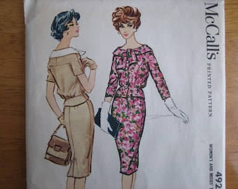 MacCall's Pattern 4924 Misses' Two-Piece Dress    1959    Uncut