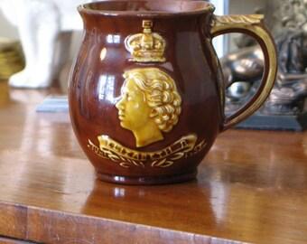 Dartmouth Pottery 1953 Coronation Mug
