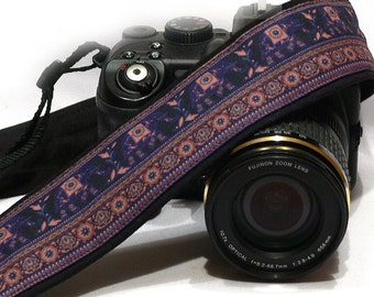 Camera Strap. Lucky Elephants Accessories. For Photographer. dSLR Camera Strap. Canon, Nikon Camera Strap. Personalized Camera Accessories.