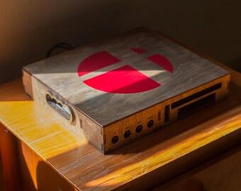 Wooden Nintendo Wii U Console Case