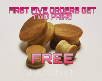 Poplar Wood Double Flare Plugs HANDCRAFTED