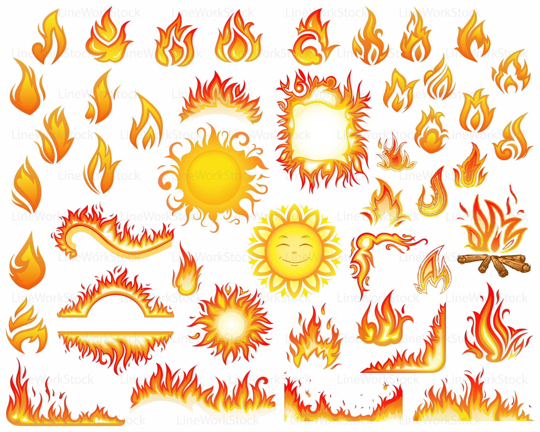 Sun svg/fire clipart/f...