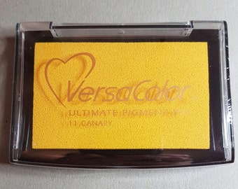 VersaColor Pigment Ink Pad Large in Canary Ink for stamp - Yellow Ink Pad - Versa Color - Colour Ink Pad - Yellow Inkpad