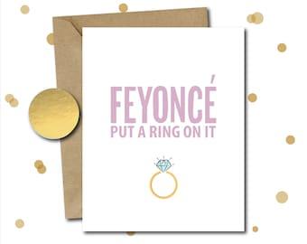 Bridal shower cards etsy beyonce wedding shower card funny bridal shower card beyonce engagement gift funny wedding m4hsunfo