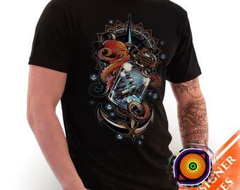 Someday I'll Be A Kraken- Kraken T-Shirt Tattoo Ocean Sea Creature Nautical Ship Octopus Shirt