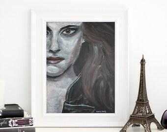 Kristen Stewart as Bella Swan. Breaking Dawn. Original Pastel Drawing. 9x12.
