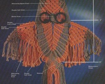Vintage 1977  Macrame Owl Patterns