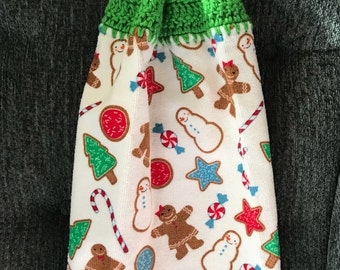 Christmas Gingerbread Hanging Kitchen Towel
