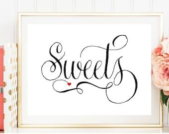 Sweets Wedding Sign, Wedding Signs, Printable Wedding Sign, Wedding Sign Download, DIY, Wedding Signage