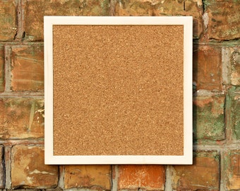 "40x40cm Square Cork Board Pin board wooden frame Corkboard pinboard 15-3/4"" Bulletin message wood memo notice note board square shape"