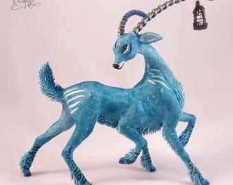 "Antelope ""Lin Wai"" handmade fantasy sculpture"