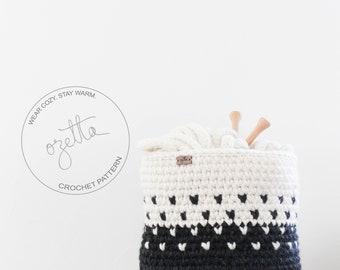 Crochet Pattern / Chunky Ombré Fair Isle Basket  / THE MINTURN Basket