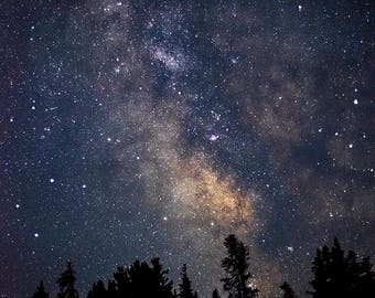 Milky Way - landscape photograph - dark night sky stars astrophotography