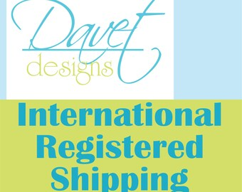 International Registered Shipping fee added to order