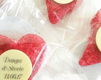 20 heart shaped gourmet marshmallow favours