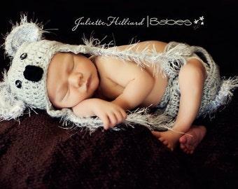 baby koala hat - koala photo prop - crochet koala outfit - baby shower gift - Australia koala hat - photo props