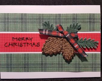Homemade Christmas Greeting Card, Handmade Christmas Card, Christmas Card, Holiday Card, Holiday Greeting Card, Rustic Christmas Card