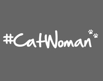 Cat Woman Decal