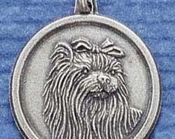 Yorkshire Terrier Sterling Silver Dog Breed Charm Pendant  -- Complimentary Ribbon or Cord