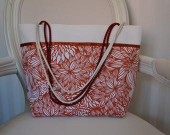 Bright spring patterned tote bag