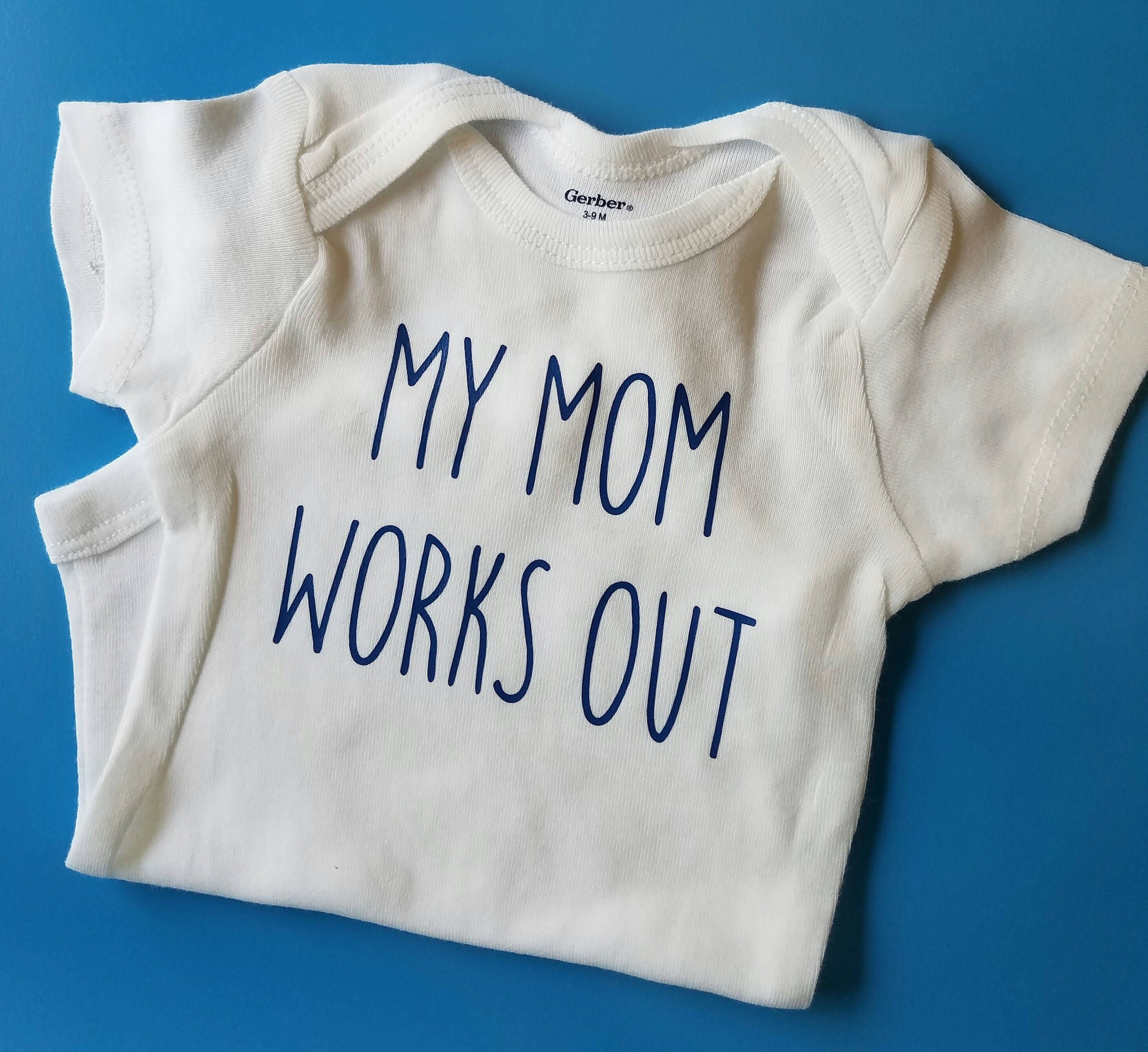 My Mom Works Out Crossfit Baby Funny Baby Gender Neutral
