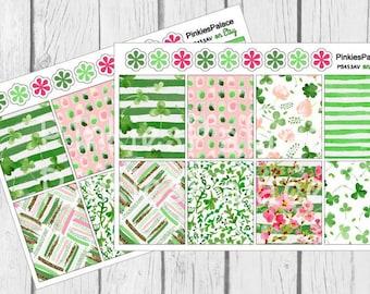 St Patrick's Day Decorative Box Planner Stickers Full Box PS453A Fits Erin Condren