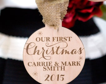 Ornament for Couples First Christmas Newlywed Wedding Gift Christmas Ornament for Wedding Gift Bride and Groom (Item - FXO100)