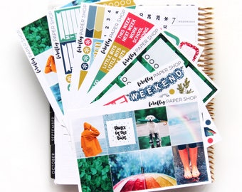 Rainy Days DELUXE Weekly Kit (stickers for Erin Condren Life Planner - Vertical)