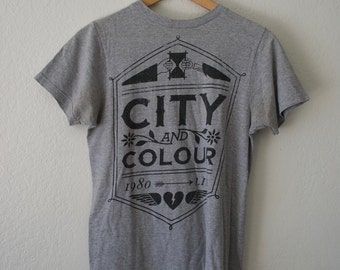 City and Colour Gray Band Tee // Size Small 100% Cotton