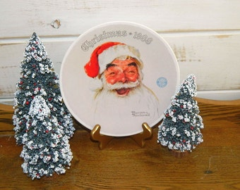 Santa Claus - Norman Rockwell Christmas Plate - Rockwell Society of America - 1988 Knowles
