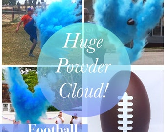 EMPTY FOOTBALL One Empty Gender Reveal Football Gender Reveal Ideas No Powder Gender Reveal Football Gender Reveal Ball