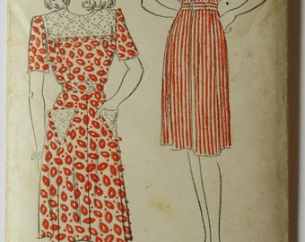 Rare find! Vintage Dress pattern from 1940's - New York Pattern 794 - Size 18-36