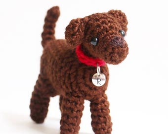 Chocolate Labrador Retriever Plush - Chocolate Lab  - Chocolate Lab Keychain - Chocolate Lab Mom - Chocolate Lab Keychain - Chocolate Lab