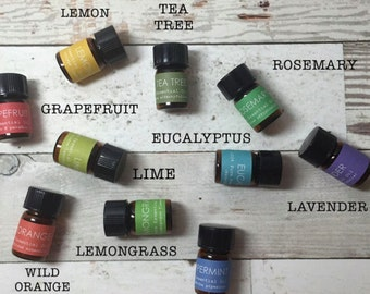 Essential Oils, ESSENTIAL OIL KIT, Travel, Pick 2, For Acne, For Anxiety,  For Sleep, For Headaches, For Allergies, For Aromatherapy