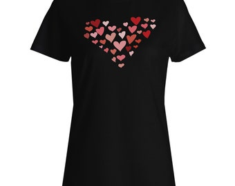 Heart made out of hearts Ladies T-shirt w123f