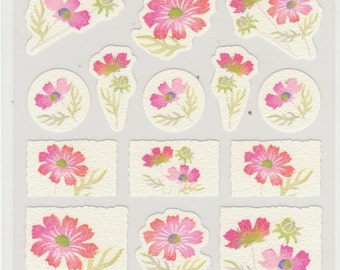 Flower Stickers - Japanese Paper Stickers - Hallmark - Reference A3041
