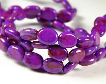 16 Inch Strand - 10x5mm Purple Oval Gemstone Beads - Purple Gemstone Beads - Jewelry Making - Jewelry Supplies