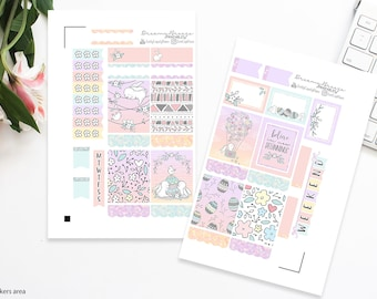 Easter Mini Kit | New Beginnings | Printable Planner Stickers | Erin Condren Life Planner