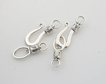10sets Tibetan Silver jewelry toggle clasps X0205