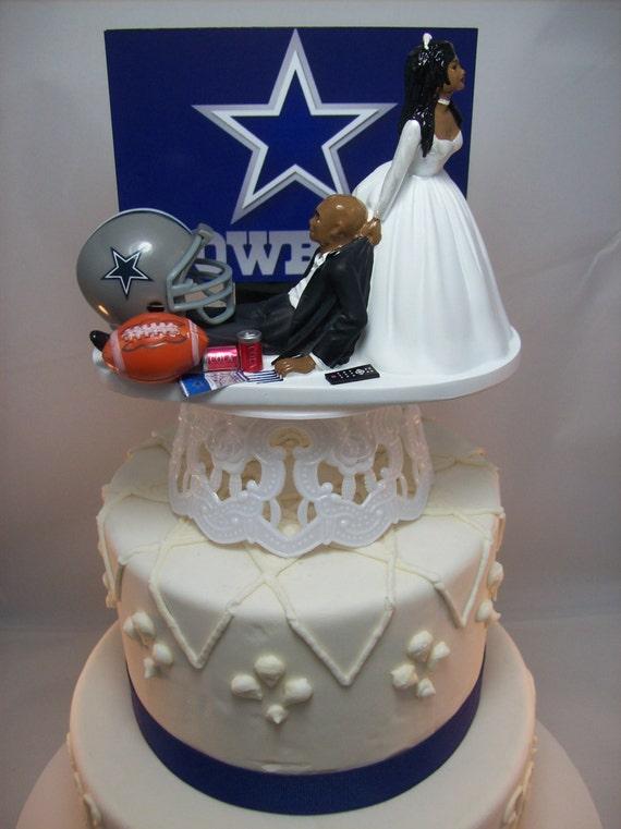 Dallas Cowboys Football Bride And Groom African American Bald
