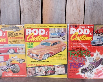 Lot 3 1960's Rod and Custom Magazines Rat Rod Hot Rod Big Daddy Roth Custom Car