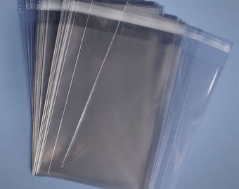 Crystal Clear Resealable Re-sealable Recloseable  SELF SEAL adhesive lip sealable Lip and Tape Poly propylene bags free shipping USA