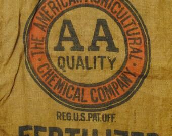 Burlap Bag- Agrico Fertilizer