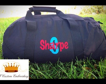 Personalized Tote or Travel Duffle Vacation Bag  26 Colors to Choose from Custom Embroidery